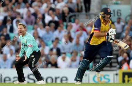 Editorial picture of Surrey vs Essex Eagles, Vitality Blast T20, Cricket, the Kia Oval, Kennington, London, United Kingdom - 29 Aug 2019