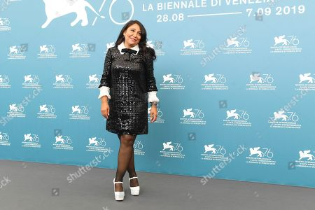 Haifaa al-Mansour poses for photographers at the photo call for the film 'The Perfect Candidate' at the 76th edition of the Venice Film Festival in Venice, Italy