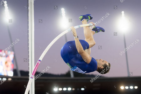 Renaud Lavillenie from France competes in the men's pole vault event at the Weltklasse IAAF Diamond League international athletics meeting in Zurich, Switzerland, 29 August 2019.