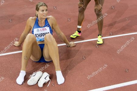 Dafne Schippers from the Netherlands reacts after competing in the women's 200m race at the Weltklasse IAAF Diamond League international athletics meeting in Zurich, Switzerland, 29 August 2019.