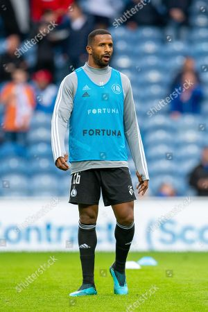 Stock Image of Cafu (#26) of Legia Warsaw warms up before the Europa League Play Off leg 2 of 2 match between Rangers FC and Legia Warsaw at Ibrox Stadium, Glasgow