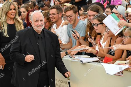 Brian De Palma (2-L) arrives for the premiere of 'Marriage Story' during the 76th annual Venice International Film Festival, in Venice, Italy, 29 August 2019. The movie is presented in the official competition 'Venezia 76' at the festival running from 28 August to 07 September.