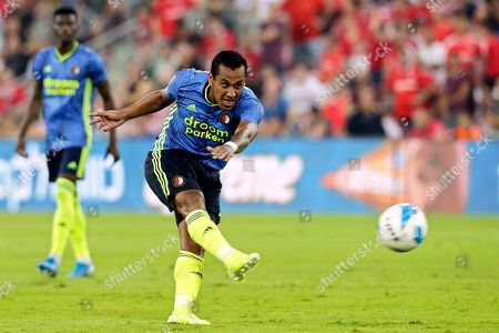Renato Tapia of Feyenoord in action during the UEFA Europa League playoff, second leg soccer match between Hapoel Beer Sheva and Feyenoord Rotterdam in Beer Sheva, Israel, 29 August 2019.