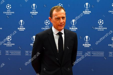 Real Madrid director of football Emilio Butragueno arrives for the UEFA Champions League 2019-20 Group Stage draw in Monaco, 29 August 2019.