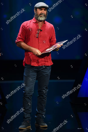 Former Manchester United forward Eric Cantona receives the UEFA President's Award during the UEFA Champions League 2019-20 Group Stage draw in Monaco, 29 August 2019.