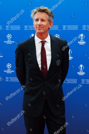 Ajax Amsterdam chief executive officer Edwin van der Sar arrives for the UEFA Champions League 2019-20 Group Stage draw ceremony in Monaco, 29 August 2019.