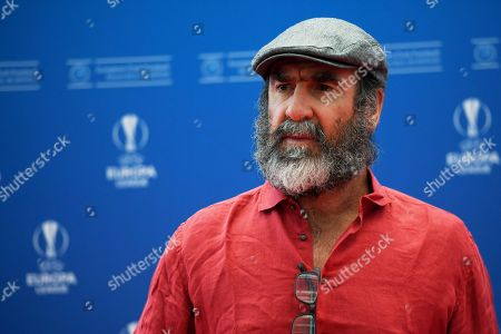 Former Manchester United forward Eric Cantona arrives for the UEFA Champions League 2019-20 Group Stage draw in Monaco, 29 August 2019.