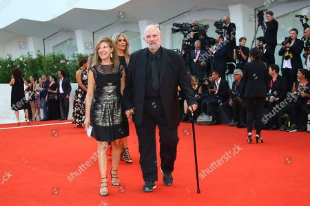 Brian De Palma signs autographs upon arrival at the premiere of the film 'Marriage Story' at the 76th edition of the Venice Film Festival, Venice, Italy