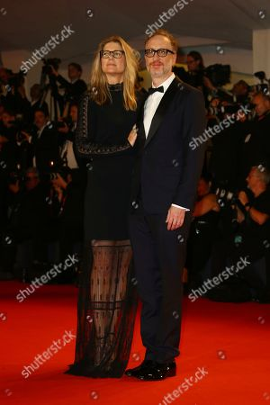Stock Picture of James Gray, Alexandra Dickson Gray. James Gray and Alexandra Dickson Gray pose for photographers upon arrival at the premiere of the film 'Ad Astra' at the 76th edition of the Venice Film Festival, Venice, Italy
