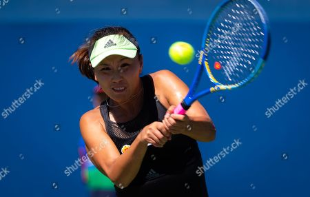 Peng Shuai of China in action during her second-round match