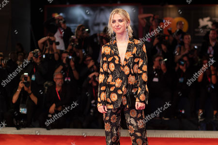 Anais Gallagher poses for photographers upon arrival at the premiere of the film 'Ad Astra' at the 76th edition of the Venice Film Festival, Venice, Italy