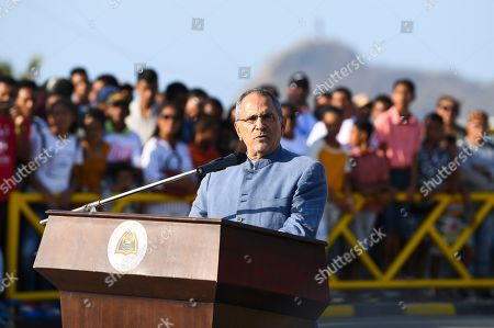Stock Photo of Former President of East Timor and Nobel Peace Prize Laureate Jose Ramos Horta speaks during the inauguration ceremony of a bridge named after former Indonesian President Bacharuddin Jusuf Habibie in Dili, East Timor, 29 August 2019. East Timor is celebrating the 20th anniversary of its independence from Indonesia on 30 August 2019.
