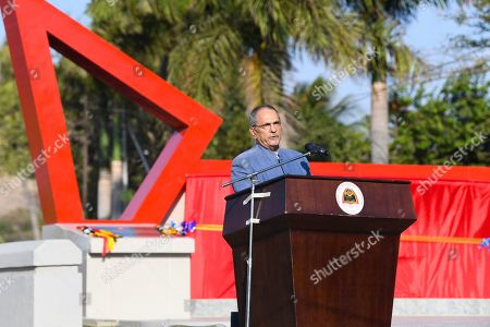Former President of East Timor and Nobel Peace Prize Laureate Jose Ramos Horta speaks during the inauguration ceremony of a bridge named after former Indonesian President Bacharuddin Jusuf Habibie in Dili, East Timor, 29 August 2019. East Timor is celebrating the 20th anniversary of its independence from Indonesia on 30 August 2019.