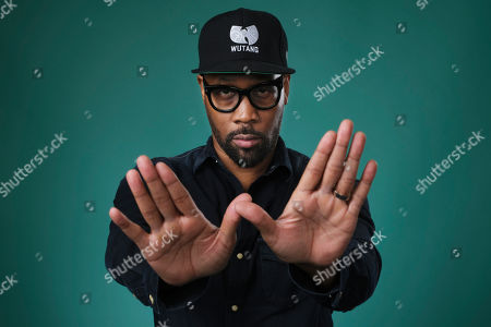 "This photo shows Wu-Tang Clan member RZA, an executive producer of the Hulu miniseries ""Wu-Tang: An American Saga,"" posing for a portrait during the 2019 Television Critics Association Summer Press Tour at the Beverly Hilton in Beverly Hills, Calif"