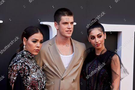 Danna Paola, Miguel Bernadeau and Mina El Hammani