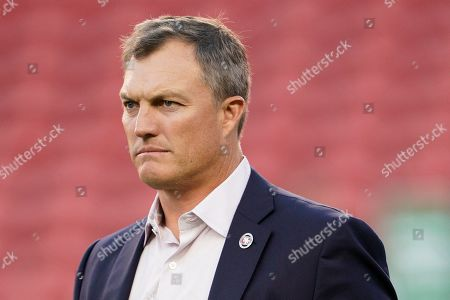 San Francisco 49ers general manager John Lynch before an NFL preseason football game against the Los Angeles Chargers in Santa Clara, Calif