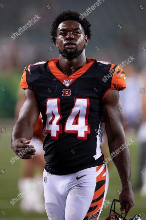 Stock Picture of Cincinnati Bengals linebacker Noah Dawkins (44) after an NFL football preseason game between the Indianapolis Colts and the Cincinnati Bengals at Paul Brown Stadium in Cincinnati, OH