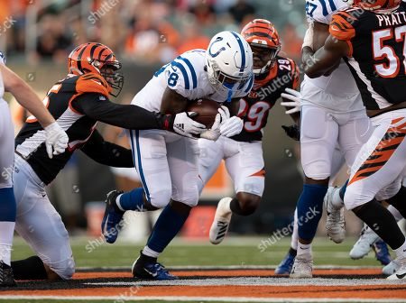Indianapolis Colts wide receiver Roger Lewis (8) during NFL football preseason game action between the Indianapolis Colts and the Cincinnati Bengals at Paul Brown Stadium in Cincinnati, OH