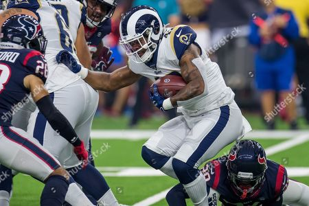 Los Angeles Rams running back John Kelly (42) carries the ball during the 1st quarter of an NFL football pre-season game between the Los Angeles Rams and the Houston Texans at NRG Stadium in Houston, TX. The Rams won the game 22 to 10
