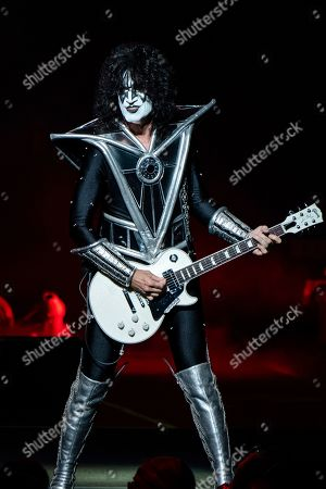 Tommy Thayer of KISS performs at the Riverbend Music Center, in Cincinnati