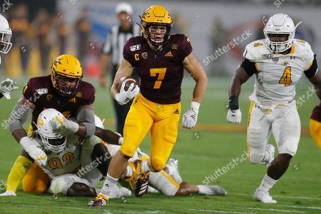 Arizona State Sun Devils quarterback Ethan Long (7) during an NCAA football game against the Kent State Golden Flashes on in Tempe, Ariz