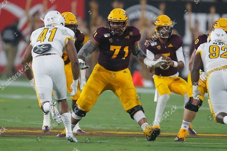 Stock Picture of Arizona State Sun Devils offensive lineman Steven Miller (71) during an NCAA football game against the Kent State Golden Flashes on in Tempe, Ariz
