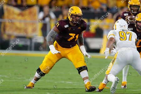 Stock Image of Arizona State Sun Devils offensive lineman Steven Miller (71) during an NCAA football game against the Kent State Golden Flashes on in Tempe, Ariz