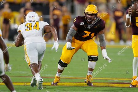 Stock Photo of Arizona State Sun Devils offensive lineman Steven Miller (71) during an NCAA football game against the Kent State Golden Flashes on in Tempe, Ariz