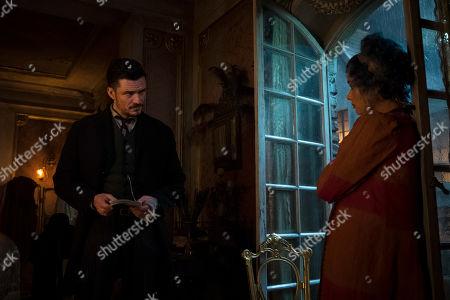 Orlando Bloom as Rycroft Philostrate and Karla Crome as Tourmaline Larou