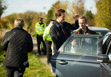 Martin Freeman as Steve Fulcher, Dominic Tighe as DS Bob Cooper and Joe Absolom as Christopher Halliwell.