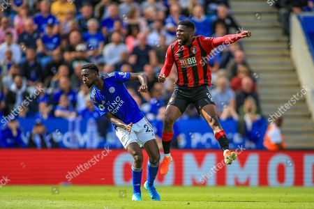 31st August 2019, King Power Stadium, Leicester, England ; Premier League Football, Leicester City vs Bournemouth : Jefferson Lerma (8) of Bournemouth sees his shot blocked
