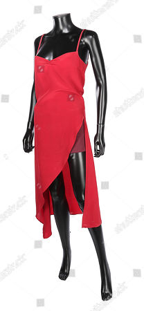 Stock Photo of Alice's (Milla Jovovich) red dress and shorts from Russell Mulcahy's action-horror sequel Resident Evil: Extinction. Estimate: £3000 - £5000.