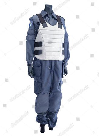 Anne Lewis' (Nancy Allen) costume from Paul Verhoeven's sci-fi action film Robocop. Estimate: £3000 - £5000.