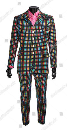 Austin Powers' (Mike Myers) screen-matched suit from Jay Roach's spy spoof sequel Austin Powers: The Spy Who Shagged Me. Estimate: £5000 - £7000.