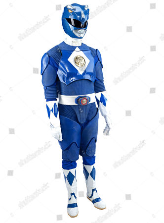 Billy Cranston's (David Yost) promotional Blue Ranger suit from Bryan Spicer's big screen adaptation of the hit children's television series Mighty Morphin' Power Rangers: The Movie. Estimate: £3000 - £5000.