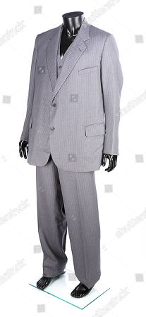 Stock Picture of Blofeld's (Max von Sydow) three-piece suit from Irvin Kershner's Bond movie Never Say Never Again. Estimate: £1000 - £1500.