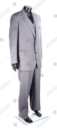 Stock Photo of Blofeld's (Max von Sydow) three-piece suit from Irvin Kershner's Bond movie Never Say Never Again. Estimate: £1000 - £1500.