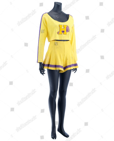 Stock Image of Buffy's (Kristy Swanson) cheerleader costume from Fran Rubel Kuzui's supernatural action comedy Buffy The Vampire Slayer. Estimate: £1500 - £2500.