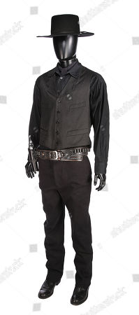 Chisolm's (Denzel Washington) costume, pistol and rig from Antoine Fuqua's Western remake The Magnificent Seven. Estimate: £6000 - £8000.