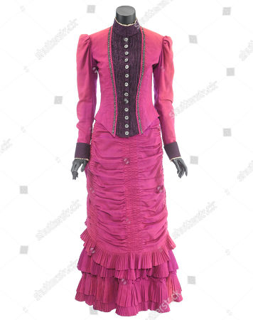 Stock Photo of Clara Clayton's (Mary Steenburgen) formal dress from Robert Zemeckis' sci-fi adventure sequel Back to the Future Part III. Estimate: £6000 - £8000.