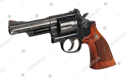 Stock Image of Detective Roger Murtaugh's (Danny Glover) Smith & Wesson revolver from Richard Donner's buddy-cop action films Lethal Weapon and Lethal Weapon 2. Estimate: £6000 - £8000.