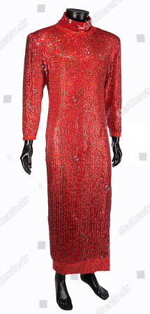 Stock Picture of Dorothy Michaels' (Dustin Hoffman) red sequined dress from Sydney Pollack's Academy Award-nominated comedy Tootsie. Estimate: £8000 - £12000.
