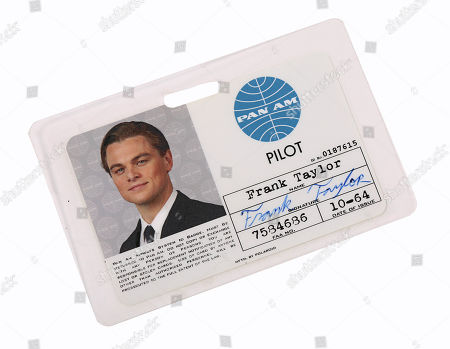 Frank Abagnale Jr.s (Leonardo DiCaprio) Pan Am ID from CATCH ME IF YOU CAN (2002) . Estimate: £1000 - £1500.