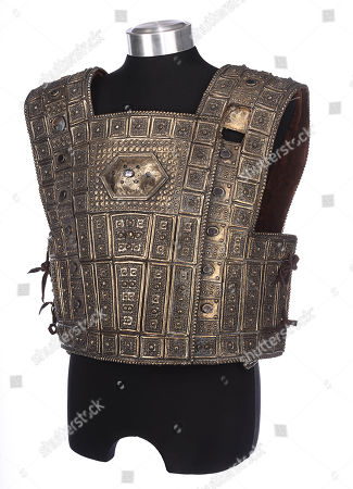 Hector's (Eric Bana) hero chest plate from Wolfgang Petersen's mythical epic Troy. Estimate: £2000 - £3000.