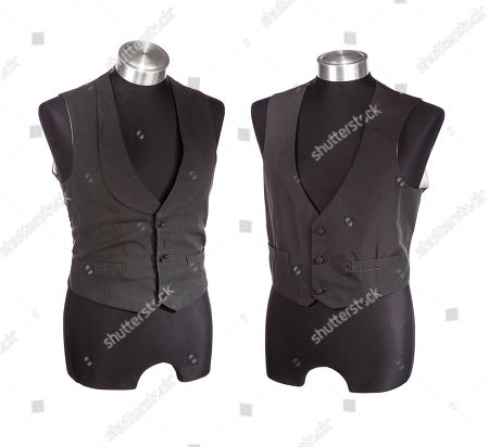 John Merrick's (John Hurt) and Frederick Treves' (Anthony Hopkins) waistcoats from David Lynch's biopic The Elephant Man. Estimate: £800 - £1200.