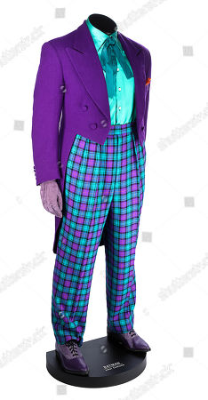 Stock Image of Joker's (Jack Nicholson) costume from Tim Burton's superhero film Batman. Estimate: £30000 - £50000.