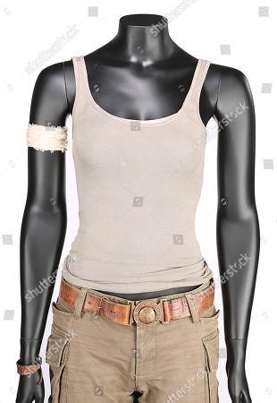 Lara Croft's (Alicia Vikander) hero costume from Roar Uthaug's action-adventure Tomb Raider. Estimate: £4000 - £6000.