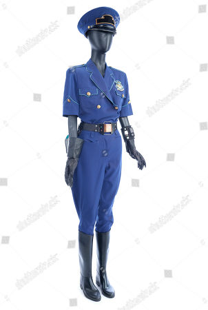 Stock Image of Officer Reese's (Mary Ellen Trainor) 2015 Hill Valley Police uniform from Robert Zemeckis' sci-fi adventure sequel Back to the Future Part II. Estimate: £4000 - £6000.