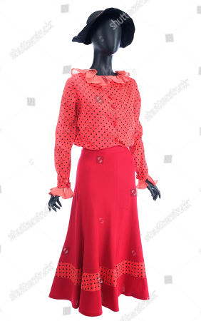 Olive Oyl's (Shelley Duvall) dress from Robert Altman's musical comedy Popeye. Estimate: £1000 - £1500.