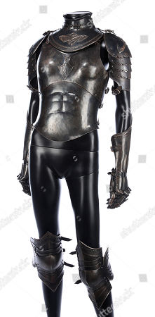 Sonja's (Rhona Mitra) hero battle armour from Patrick Tatopoulos' action-horror prequel Underworld: Rise of the Lycans. Estimate: £2000 - £3000.
